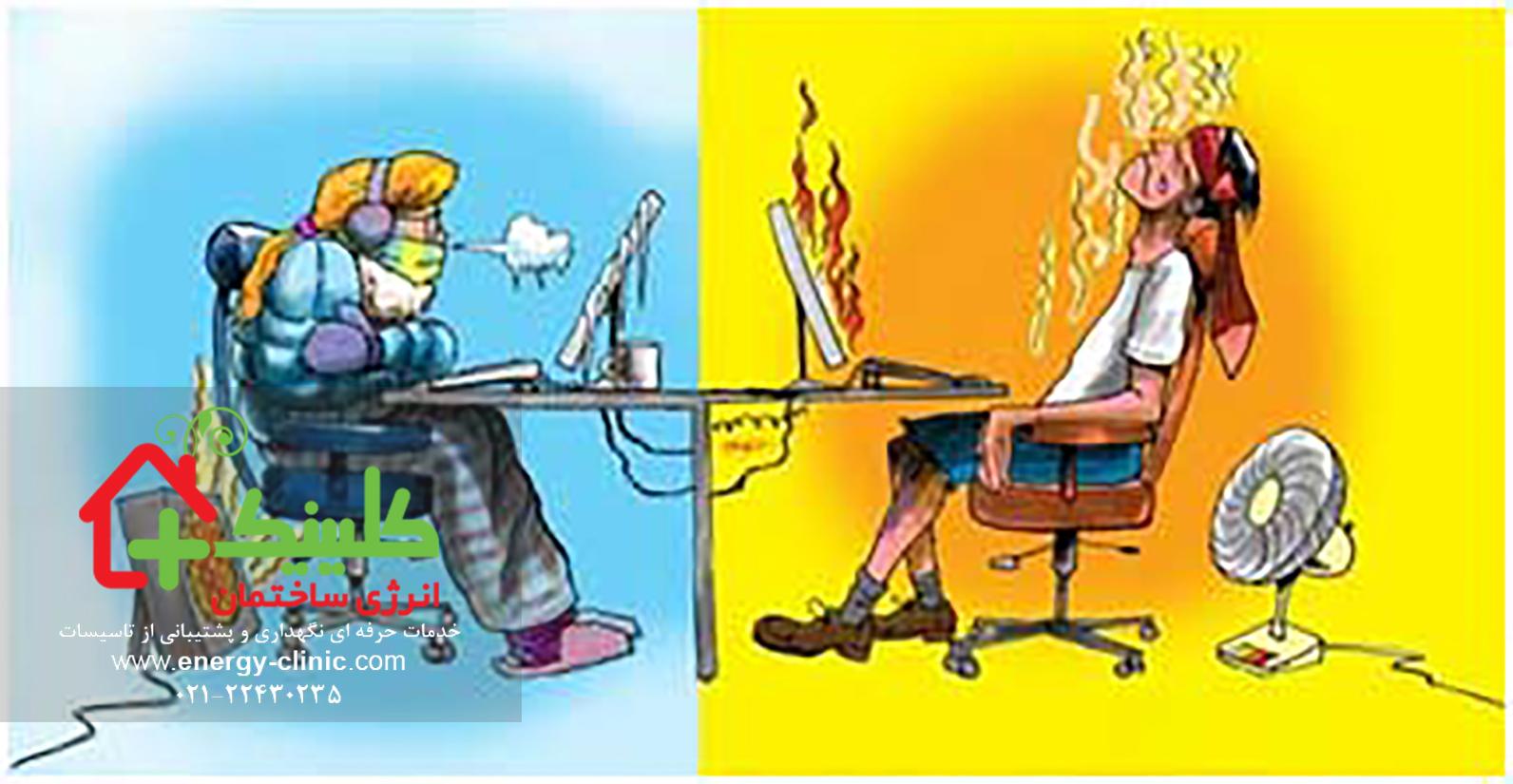 آیا سیستمهای تاسیسات گرمایش سرمایش و تهویهی مطبوع HVAC بر راندمان کاری کارکنان تاثیر دارد