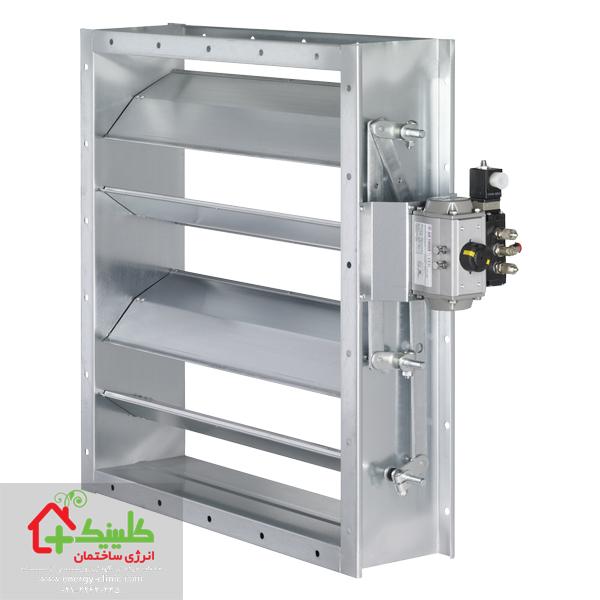 دمپر برای تنظیم جریان هوای هواساز