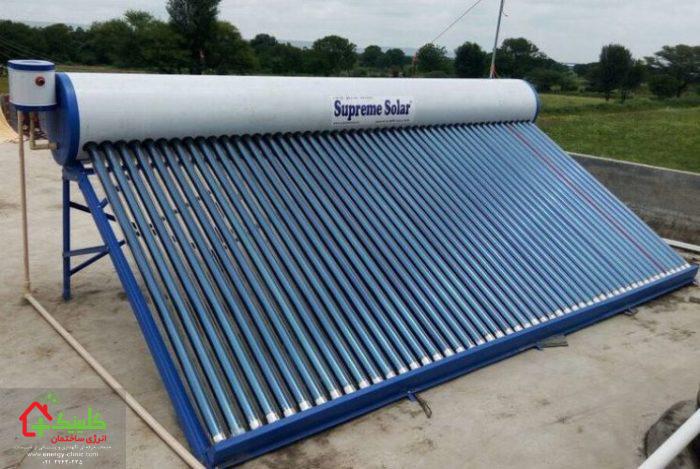 کلکتور خورشیدی تخلیه با لوله
