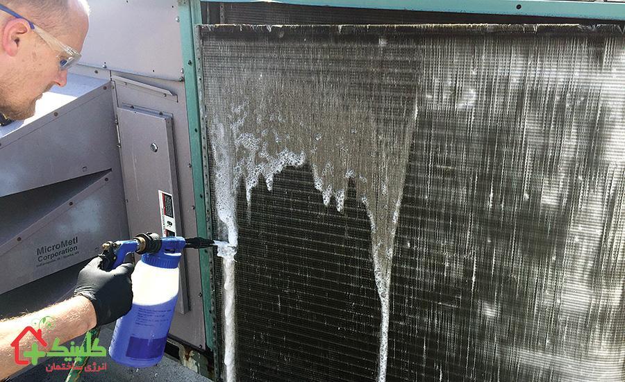 تمیز کردن قسمت خارجی کولر گازی